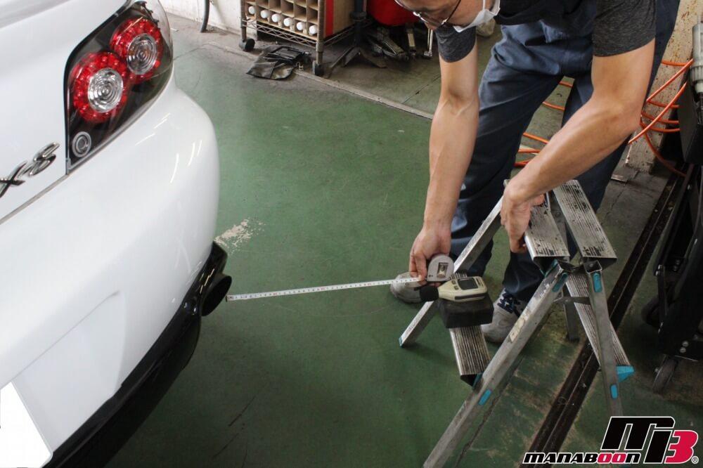 RX-8車検の点検整備作業画像