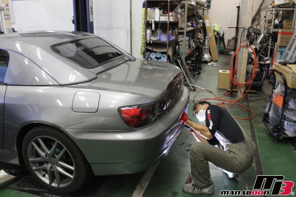 S2000車検前の点検整備画像